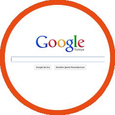 google üzerinde arama yapın